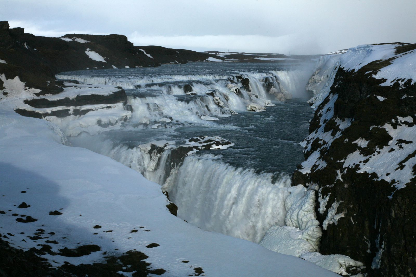"The ""Golden fall"" in winter ... Gullfoss - photo © 2015 Bernard Duyck"