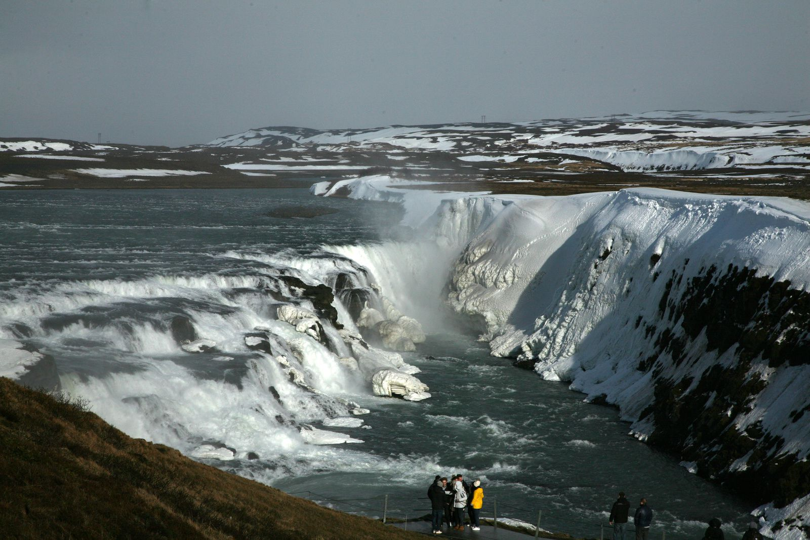 Gullfoss - the discovery of the falls is done gradually - photo © 2015 Bernard Duyck