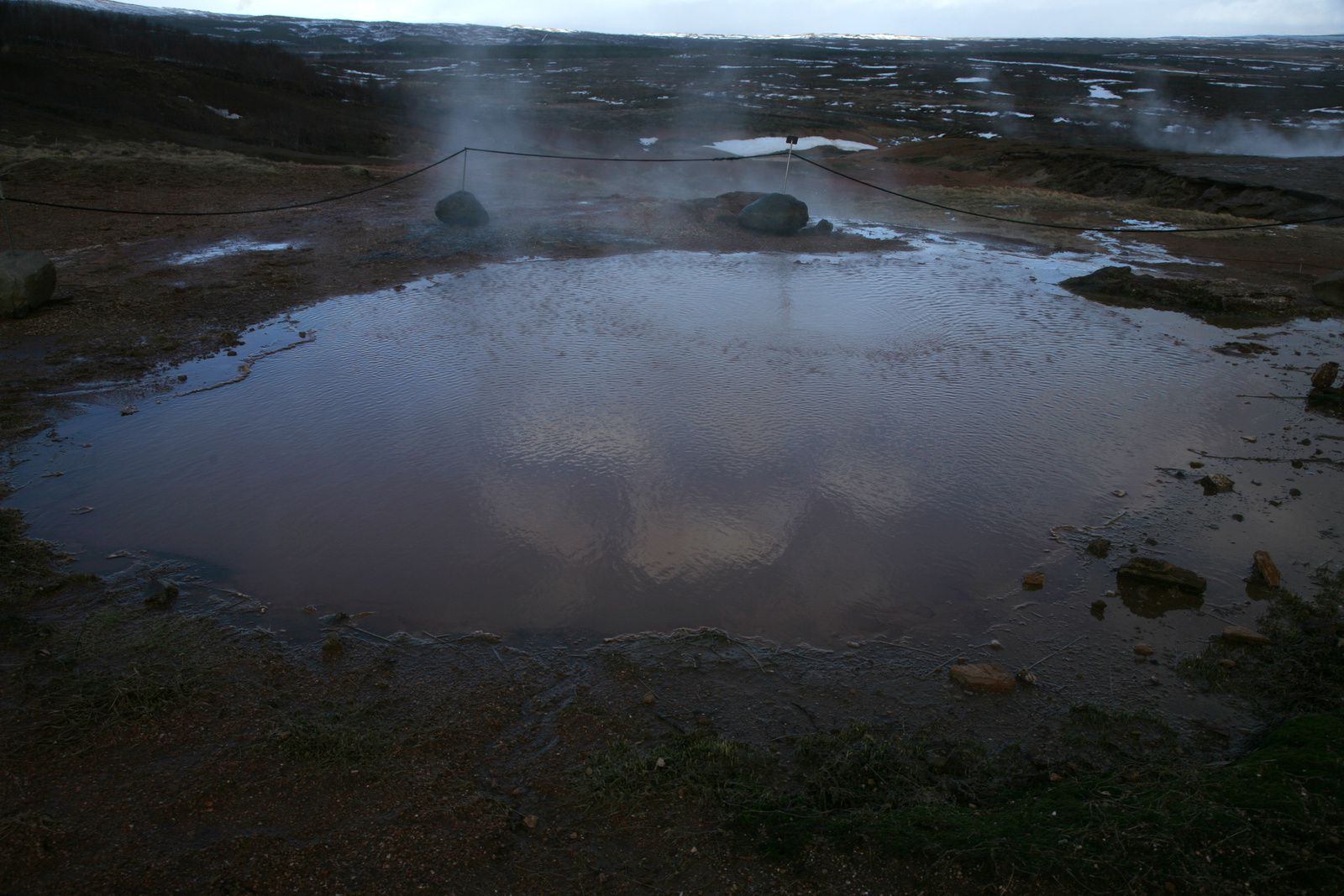 The Geysir geothermal field - Fata, hot springs - photo © 2015 Bernard Duyck