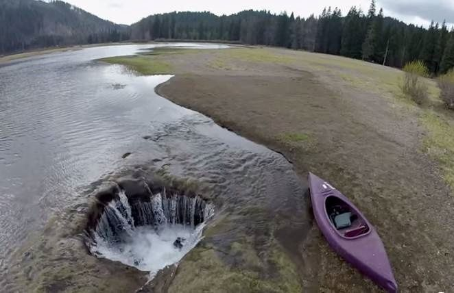 Lost Lake hole - Oregon - photo from Video Bend Bulletin