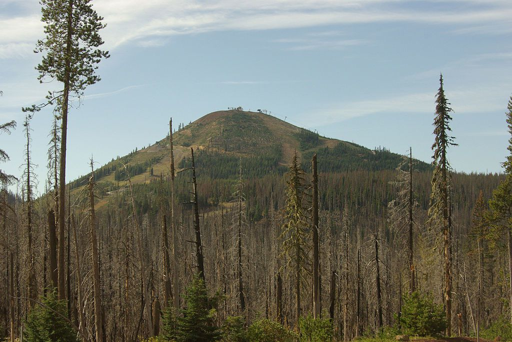Hoodoo Butte, after a forest fire in September - photo Rvannatta