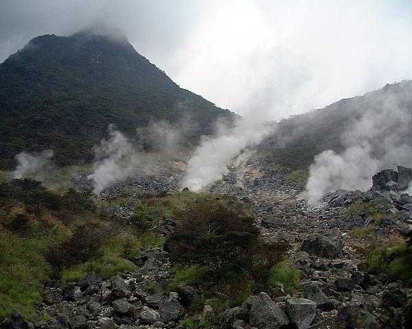 The geothermal area of Owakudani - photo undisclosed Tv