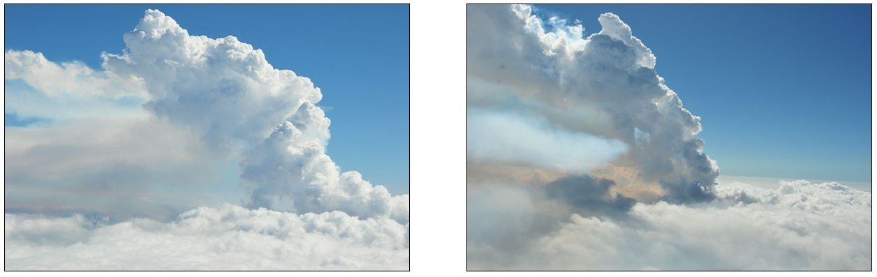 Volcan Wolf - panache de gaz observé lors du survol le 29.05.2015 -photos: B. Bernard, IGEPN).