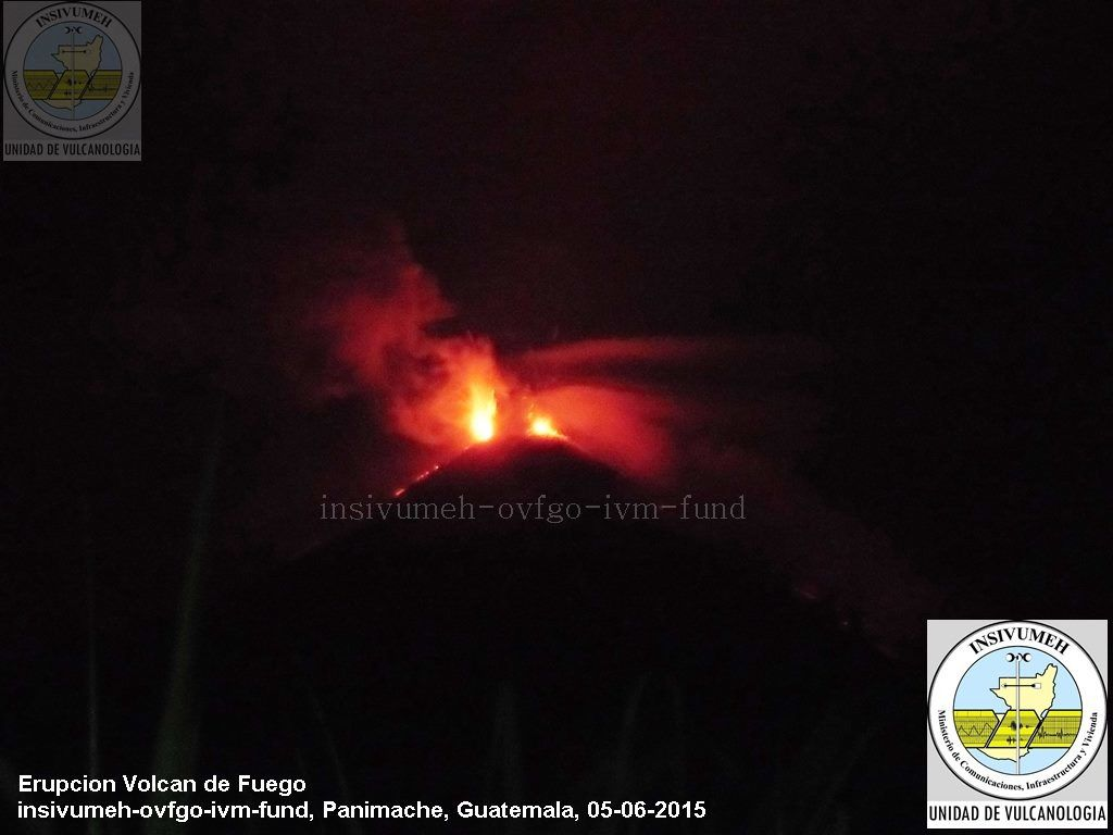 Fuego / Guatemala - 05.06.2015 - photo INSIVUMEH / ovfgo/ ivm-fund