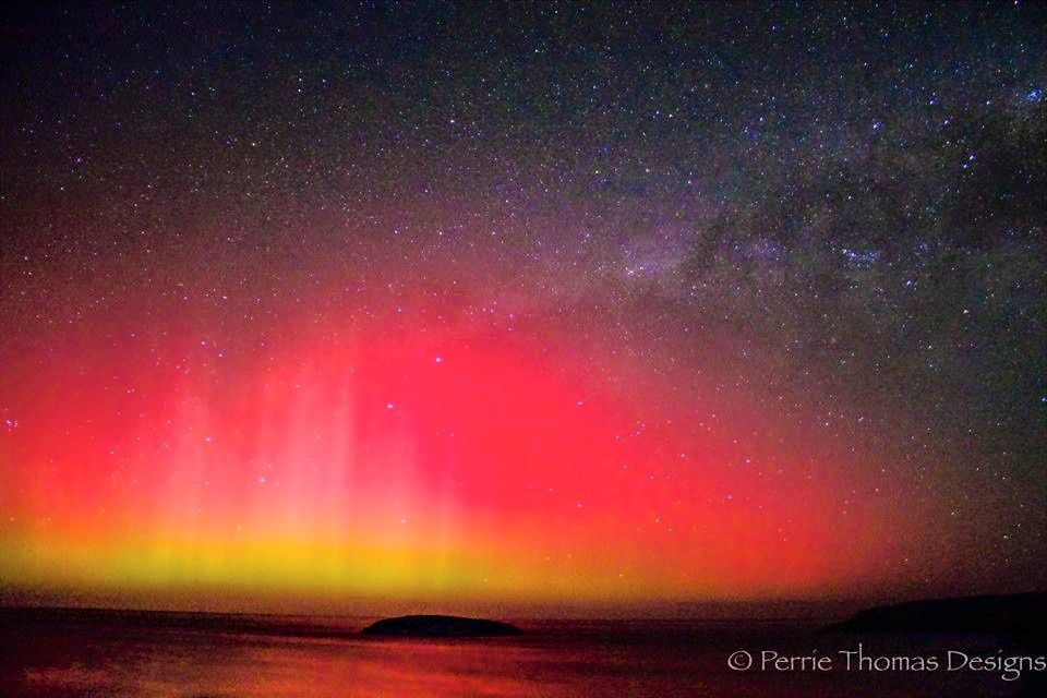 Aurore australe - 23.06.2015 - G2-3 Geomagnetic Storm - photo Perrie Thomas designs