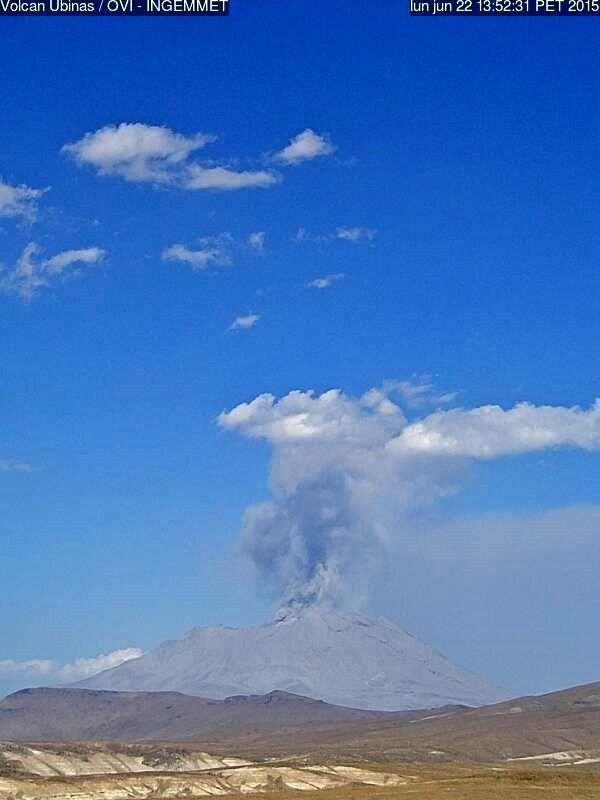 Activité volcanique en cours : Ubinas, Sinabung et Raung