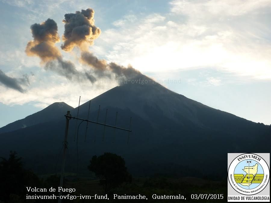 Fuego / Guatemala - Photo 03.07.2015 / INSIVUMEH
