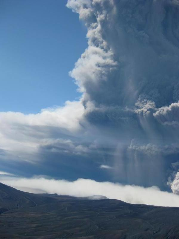 Okmok eruption plume and of 12 July 2008 - doc. AVO