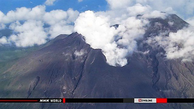 Sakurajima - degassing on 08/19/2015 - photo NHK