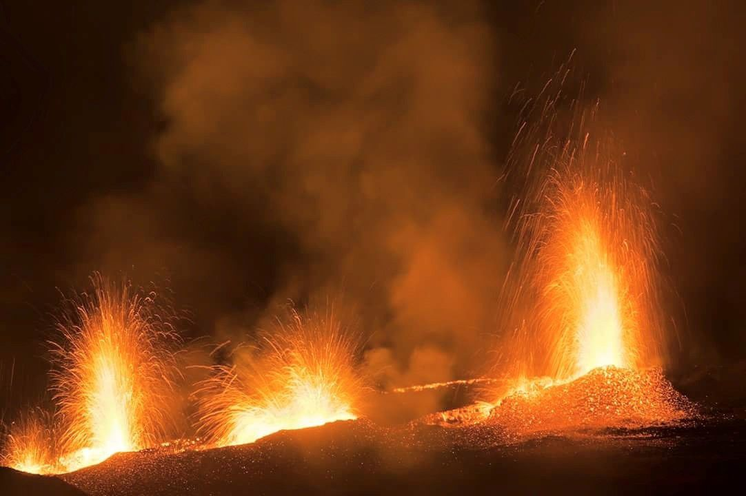 Piton de La Fournaise ce 24.08.2015 - photo Cédric Sinamalé via Facebook groupe volcanoes