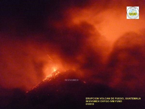 Fuego - 01.09.2015 - photo INSIVUMEH