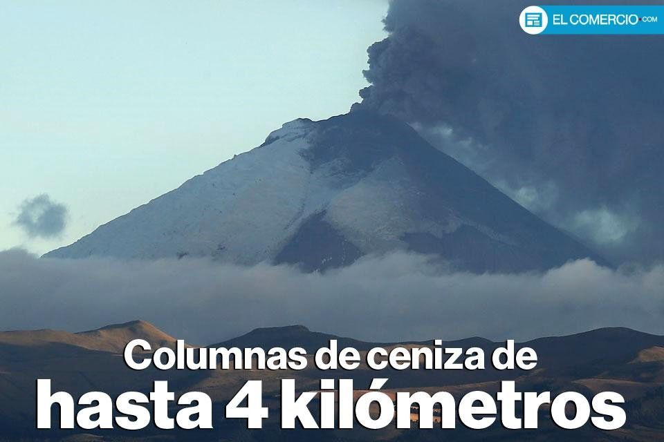 Cotopaxi - plume of ash and gas on 02/09/2015 - photo El Comercio / Twitter