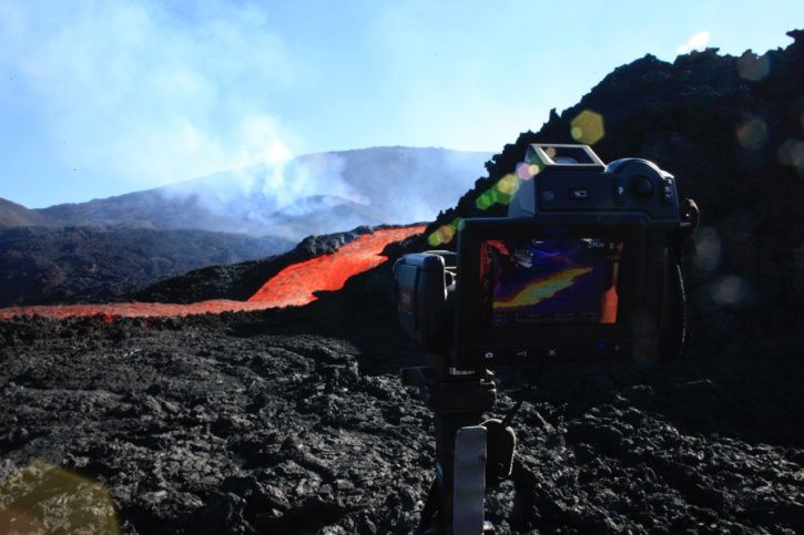 Piton de la Fournaise - measures with the thermal camera - 03/09/2015 (© OVPF / IPGP)