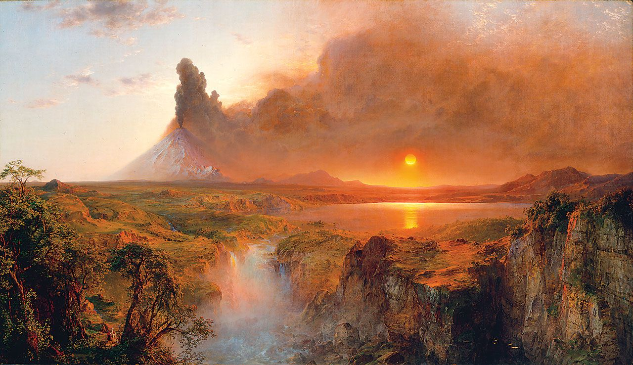 Frederic Edwin Church - Oil on canvas, 48 x 85 inches -  1862 - The Detroit Institute of Arts