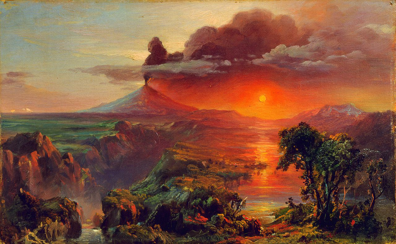 Frederic Edwin Church - Oil Study of Cotopaxi,  - 1861 - Collection of Nelson C.White / SchillerInstitute.org