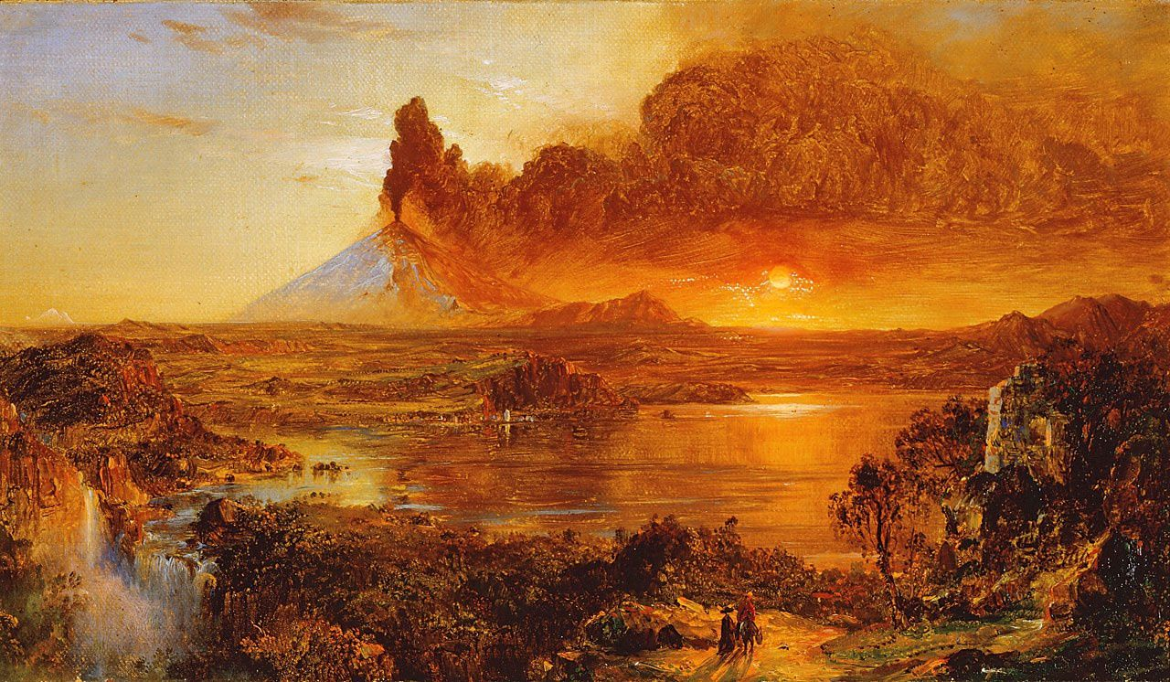 Frederic Edwin Church - Oil on canvas, 9-9 / 16 x 17-1 / 16 inches. - 1865 - Private collection / via Antiques and fine arts.