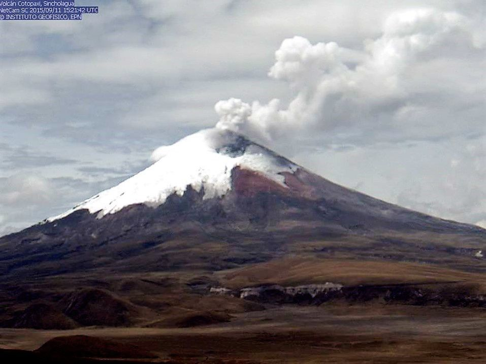 Cotopaxi - 11.09.2015 / 15h21 UTC - webcam IGEPN