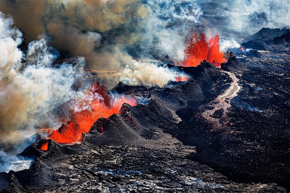 L'éruption à Holuhraun en septembre 2014 - photo Ragnar Og Ásdís.