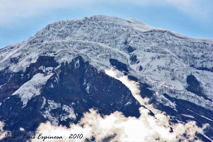 Le sommet du Chimborazo en 2010 - photo José Luis Espinosa-Naranjo