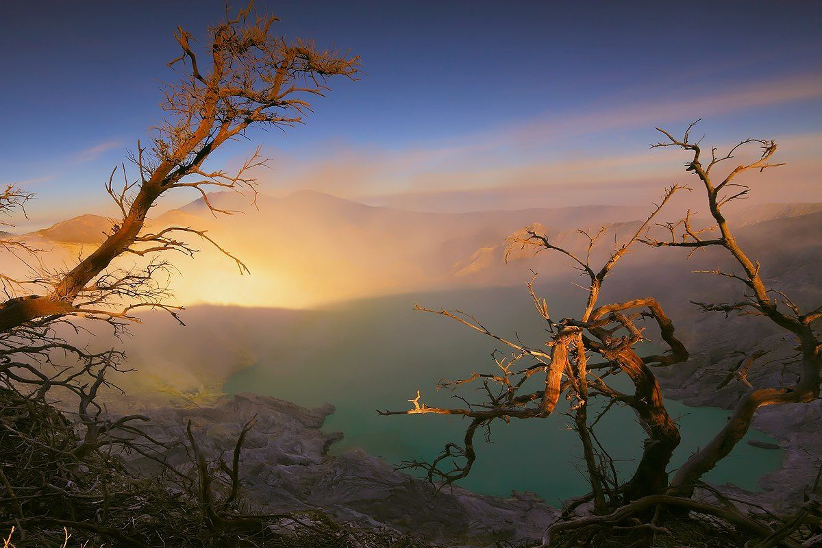 Lumières de l'Idjen - Ijen lights - photo Jessie C.Eykendorp