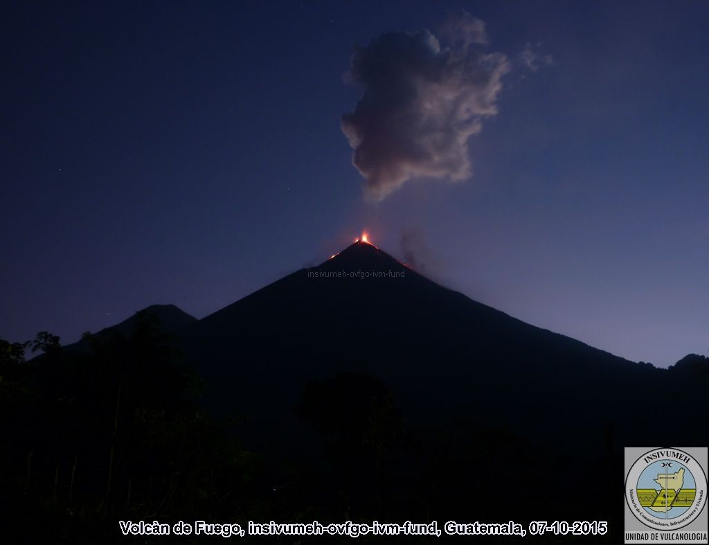 Fuego 07/10/2015 - photo Insivumeh
