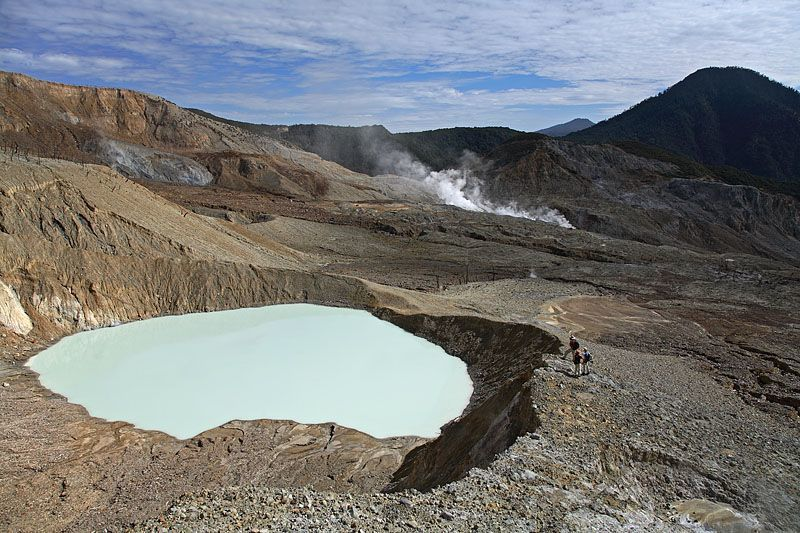 Crater lake of Papandayan in 2006 - Photo © M.Rietze