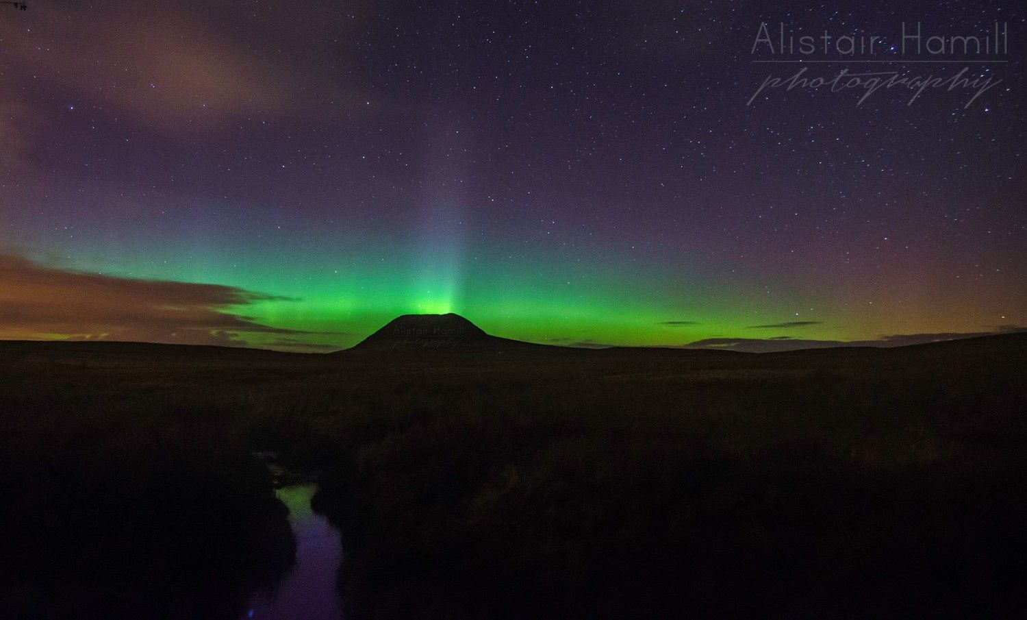 """The auroral volcano"" - photo Alistair Hamill photography"