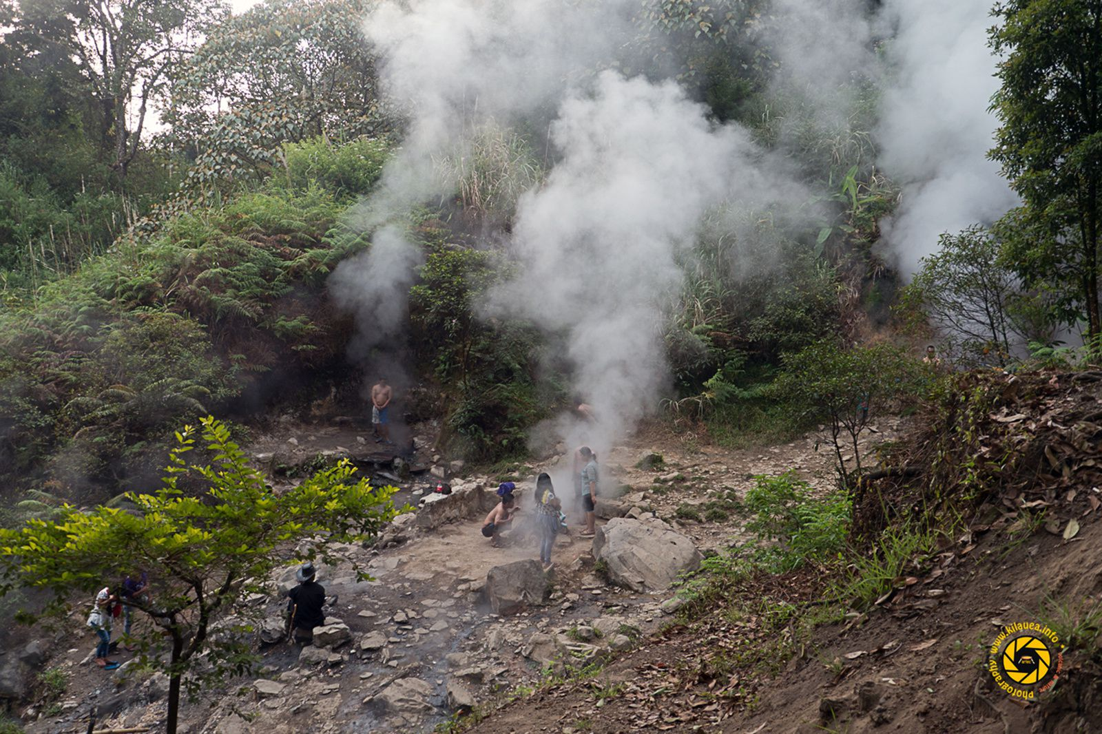 Geothermal field Kawah Kamojang - Indonesians take advantage of volcano's vapors - Photo © 2015 Jean-Michel Mestdagh
