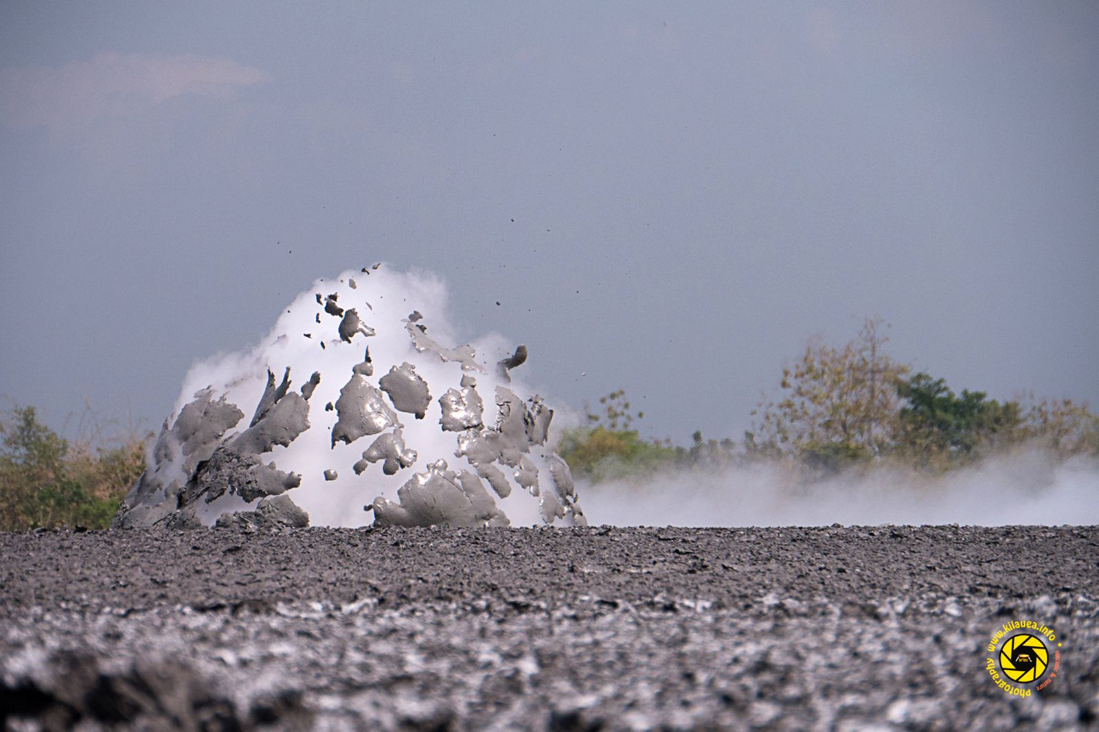 Bledug Kuwu - explosion of mud bubble on Mbah Jokotua zone - Photo © 2015 Jean-Michel Mestdagh