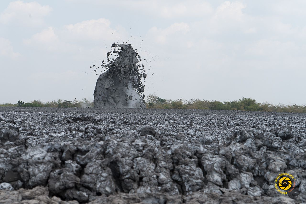 The mud volcanoes complex Bledug Kuwu - Photo © 2015 Jean-Michel Mestdagh