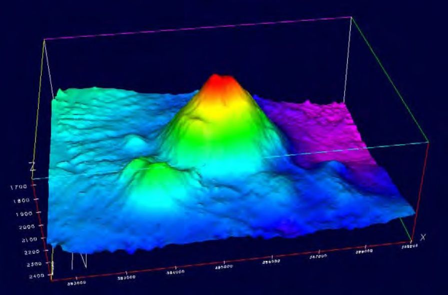 3D bathymetry of Volcán de Enmedio / image taken by the ship Hesperides IEO - doc.cienciacanaria.es