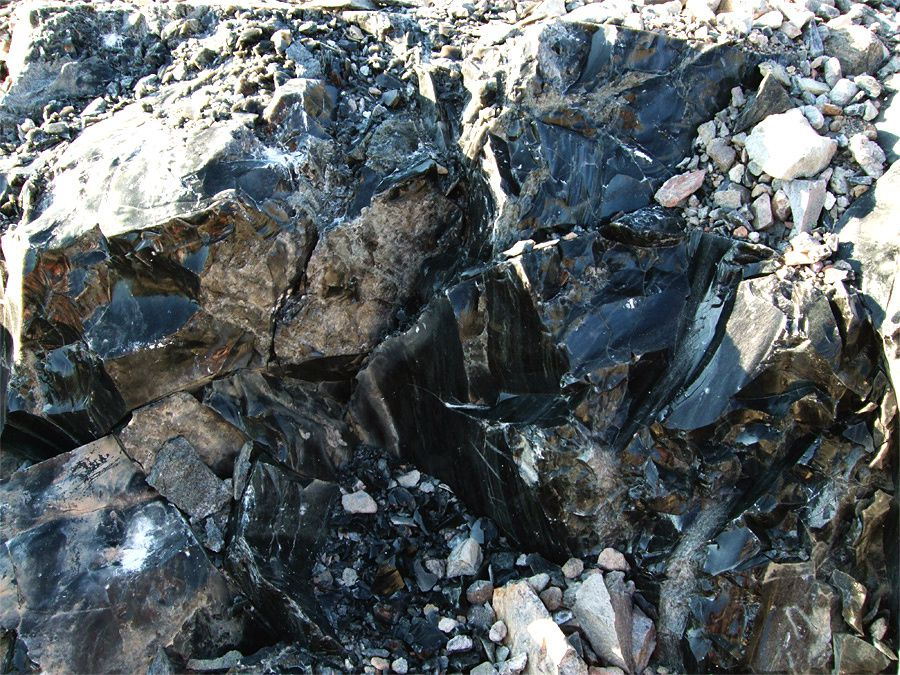 Panum crater - obsidienne rhyolitique  - photo americansouthwest