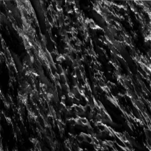 Encelade - gros-plan sur la surface d'une zone au sud du satellite - doc. Nasa JPL Caltech 28.10.2015