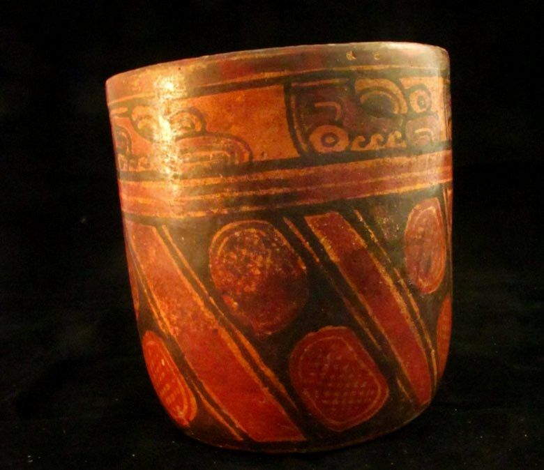 Joya de Ceren - intact polychrome jar, popular with villagers and probably obtained in markets in the valley - Doc. University of Colorado