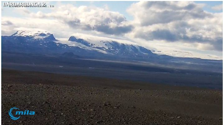 11/18/2015 - webcam Bárðarbunga - left, the Kverkfjöll, right, the Bárðarbunga - Photo livefromiceland.is.