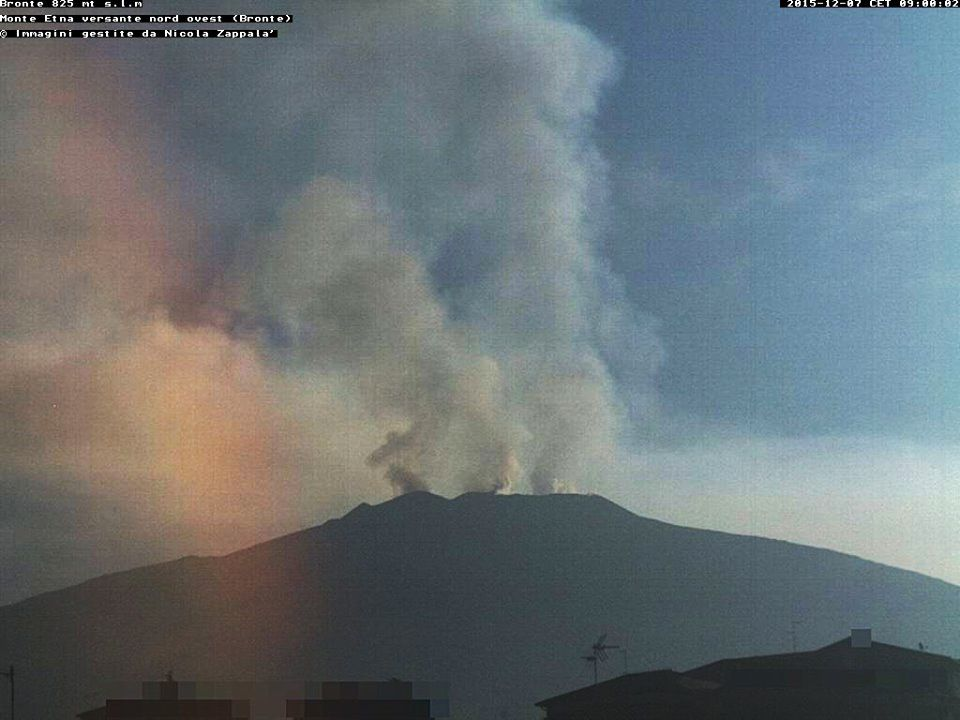 Etna 07.12.2015 / 9h  - webcam Bronte