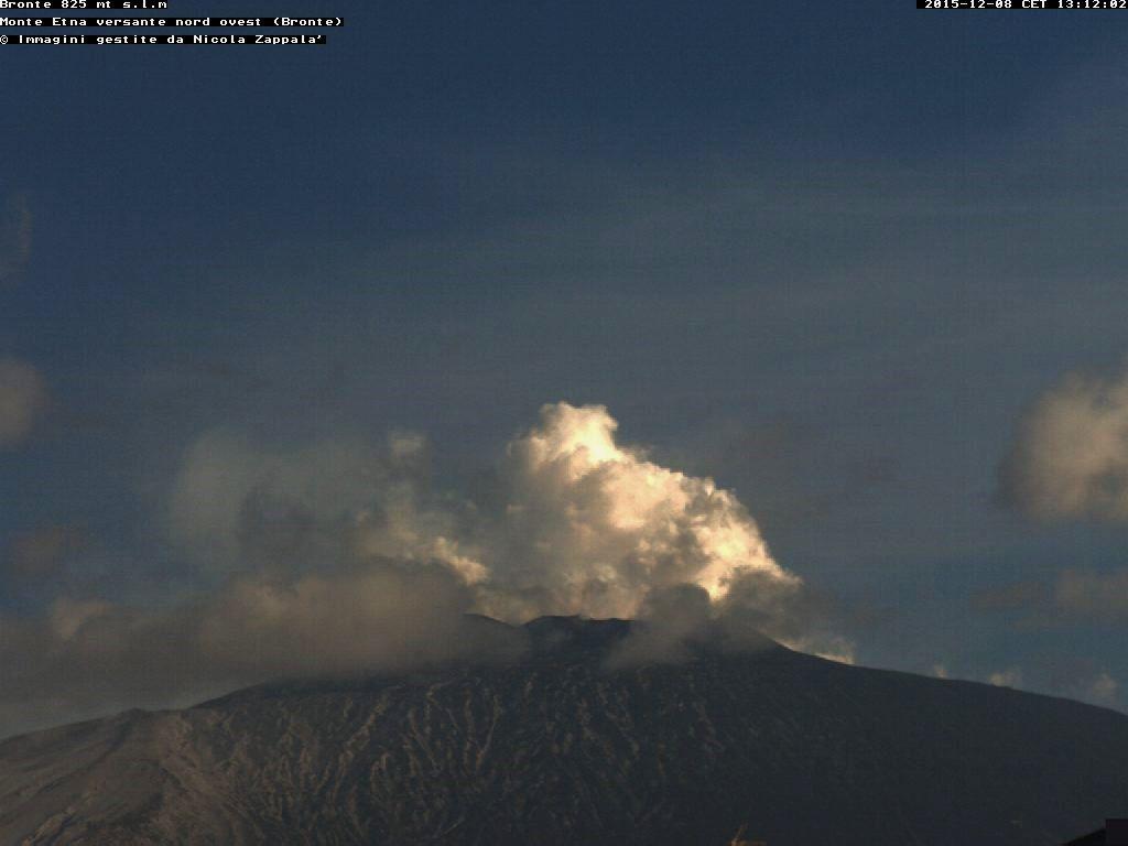 Etna - 08.12.2015 / 1:12 p.m. - webcam Bronte