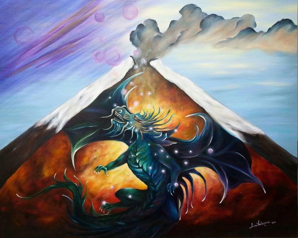"""""""Espíritu del Cotopaxi"""" - par Lina Valencia -  Oleo sobre lienzo /  80x 100"""