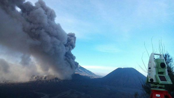 Bromo, the 12.26.2015 / 9:00 WIB (Waktu Indonesia Barat - West Indonesia Time) -photo BNPB