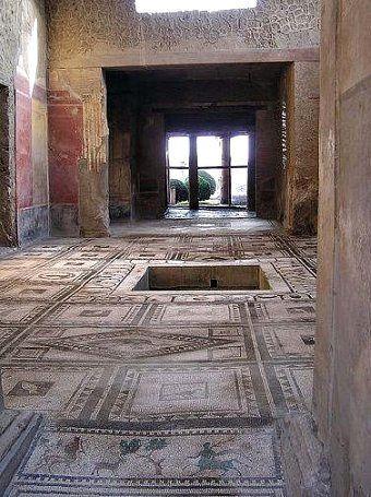 Pompéi - Atrium de la maison de Paquius Proculus - image Google