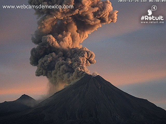 Colima le 2015.12.25 / 6h48 - photo webcams de Mexico