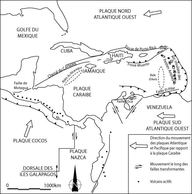 Tectonic settin g of the Caribbean and the Lesser Antilles