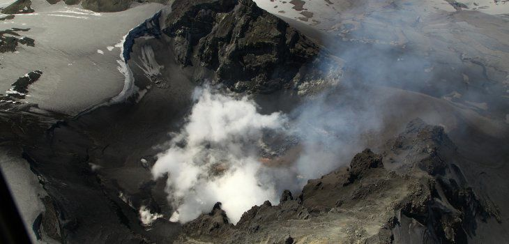 Copahue - emanations of the active crater - photo BioBioChile