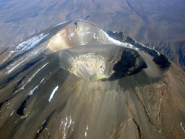 Summit crater of Misti - photo explores Peru