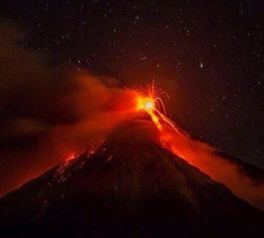 Fuego / Guatemala - 02.10.2016 - photo INSIVUMEH