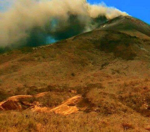 Momotombo - 02.21.2016 / 12:53 - photo Red sismologica of Nicaragua