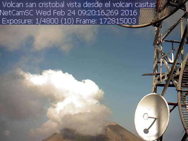 San Cristobal - petite explosion du 24.02.2016 /  9h20