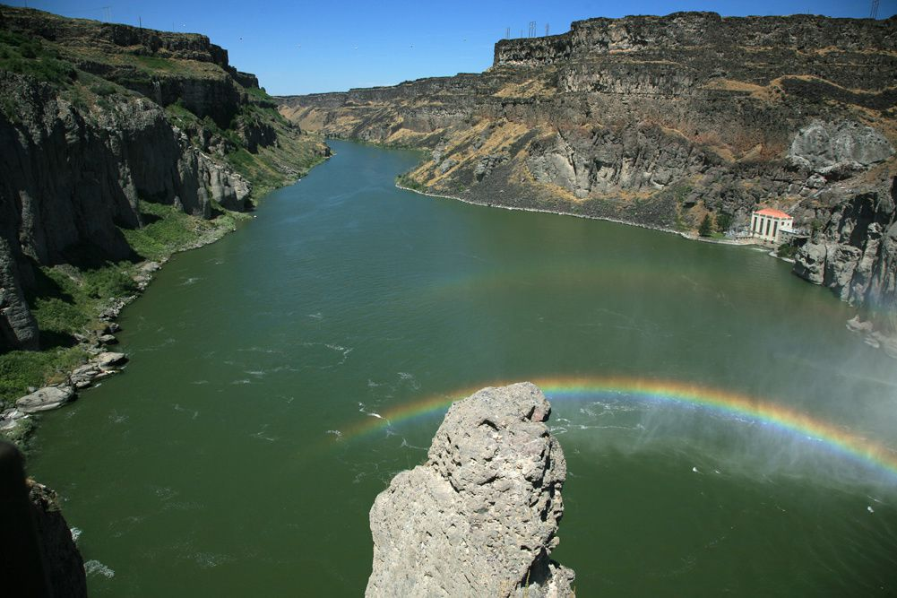 The Snake River in Twin Falls - photo Bernard Duyck