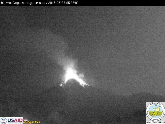 Fuego - 03.27.2016 / 5:27 - photo INSIVUMEH