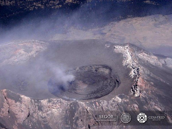 Popocatépetl - 02/04/2016 - destruction of the dome and aspect of the internal crater - Doc. CENAPRED
